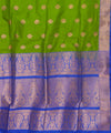 Banarasi Parrot Green Handloom Silk Saree