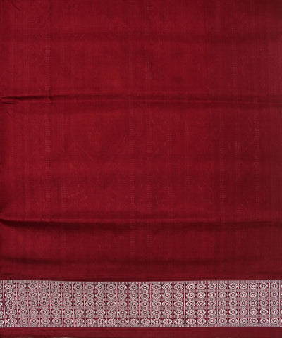 Black Maroon Handwoven Pasapalli Silk Saree