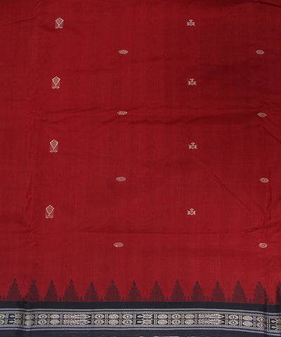Vegetable Dye Handloom Bomkai Silk Saree