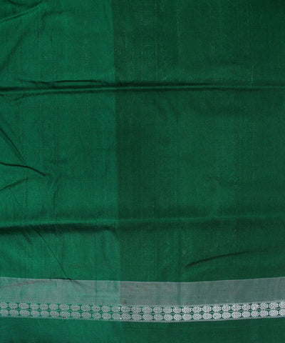Bomkai Handloom Silk Red and Green Saree