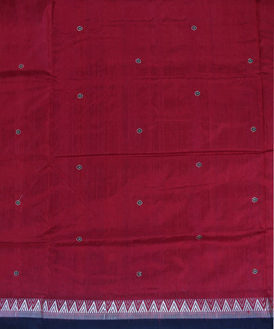 Dongaria Handloom Silk Saree Maroon Black