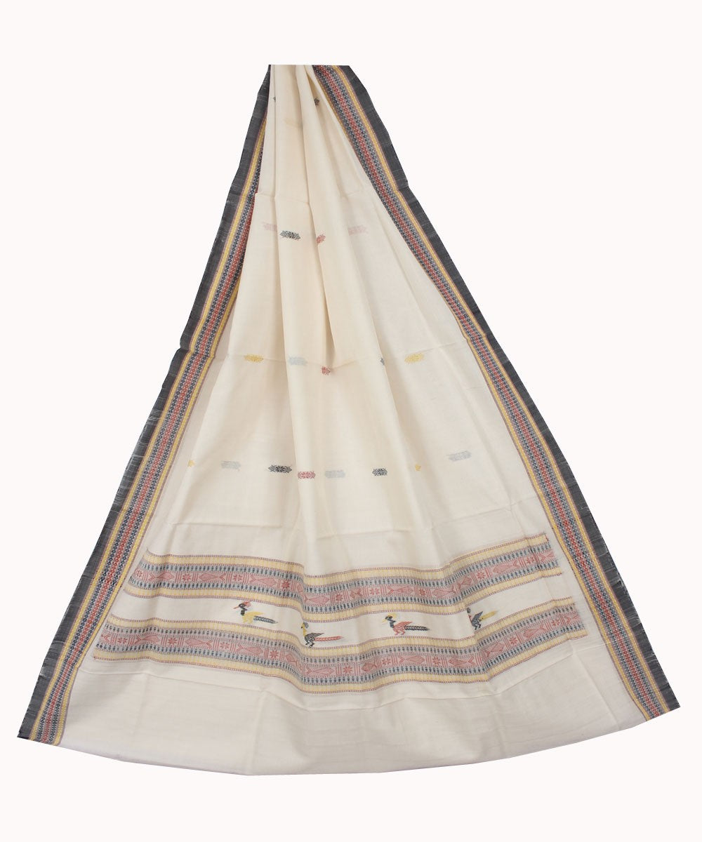 Dongaria Handloom Cotton Dupatta White