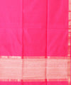 Handwoven Hot Pink Maheshwari Sico Saree