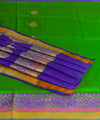 Parrot Green Banarasi Handloom Silk Saree