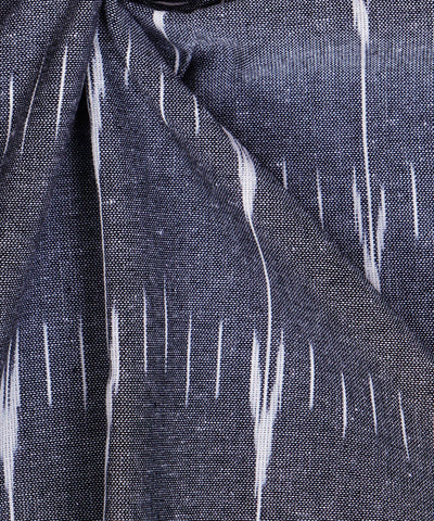 Grey Handloom Pochampally Ikat Cotton Fabric