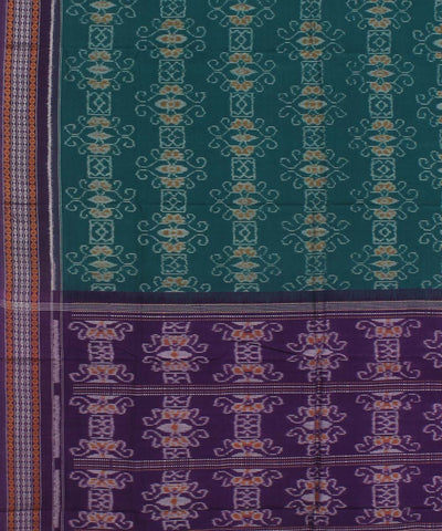 Green Purple Handwoven Sambalpuri Dupatta