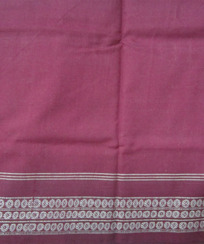 Traditional Caramel and Maroon Cotton Saree