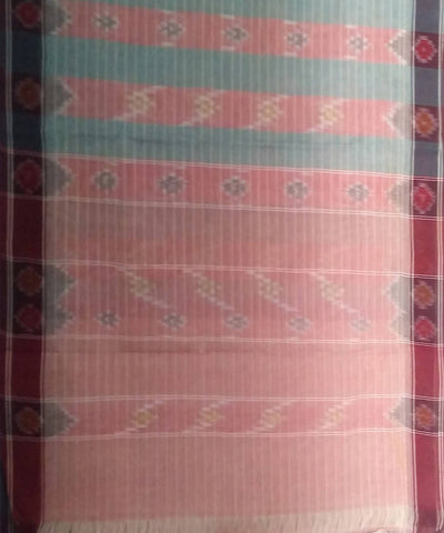 Multi color siddipet tie and dye handwoven cotton saree