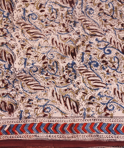 Kalamkari Block Printed Cotton Saree