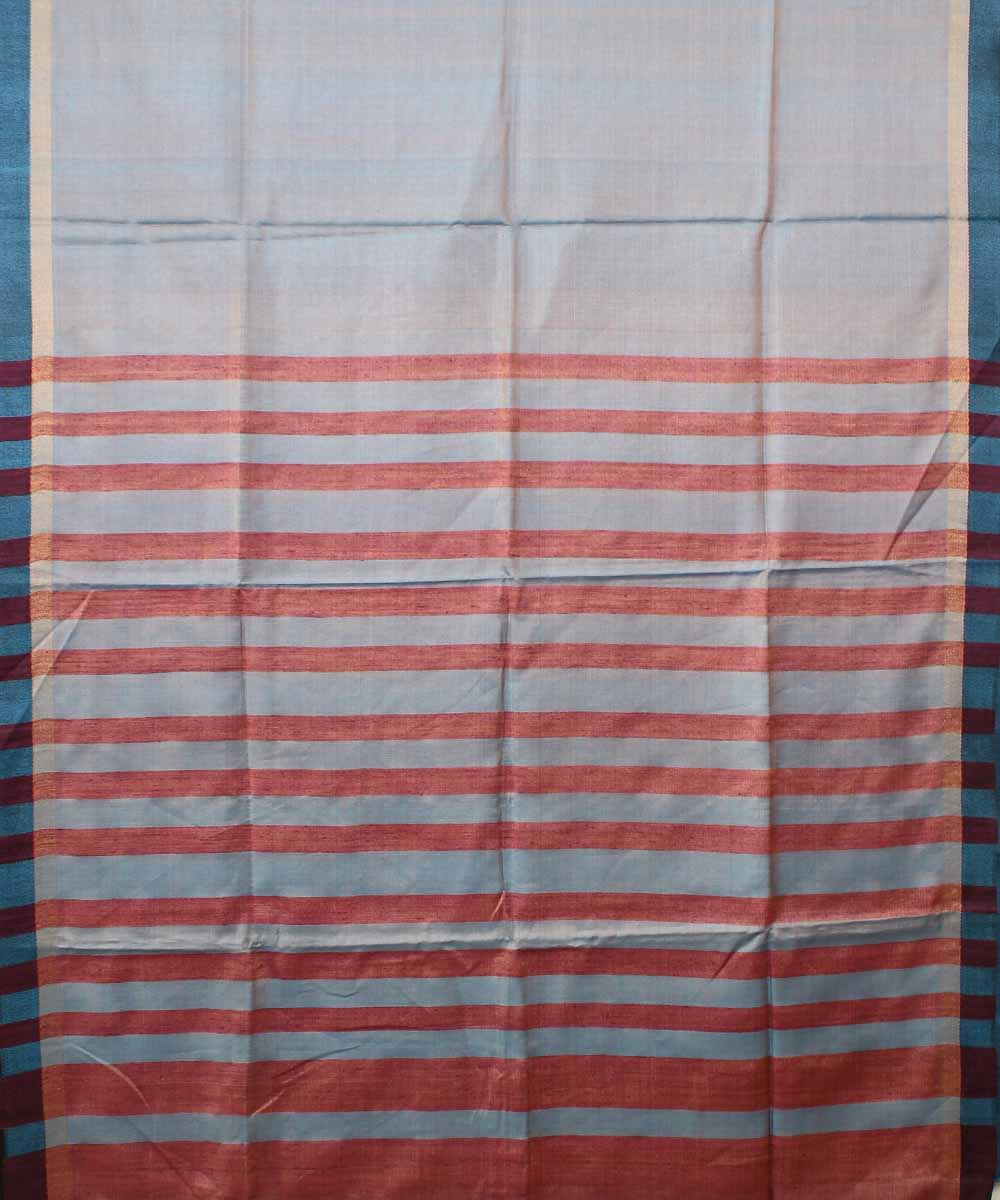 Light blue Tussar Silk Handwoven Saree