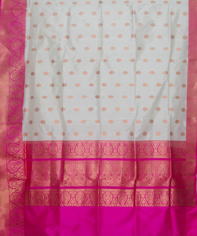 Banarasi Off White Handloom Silk Saree