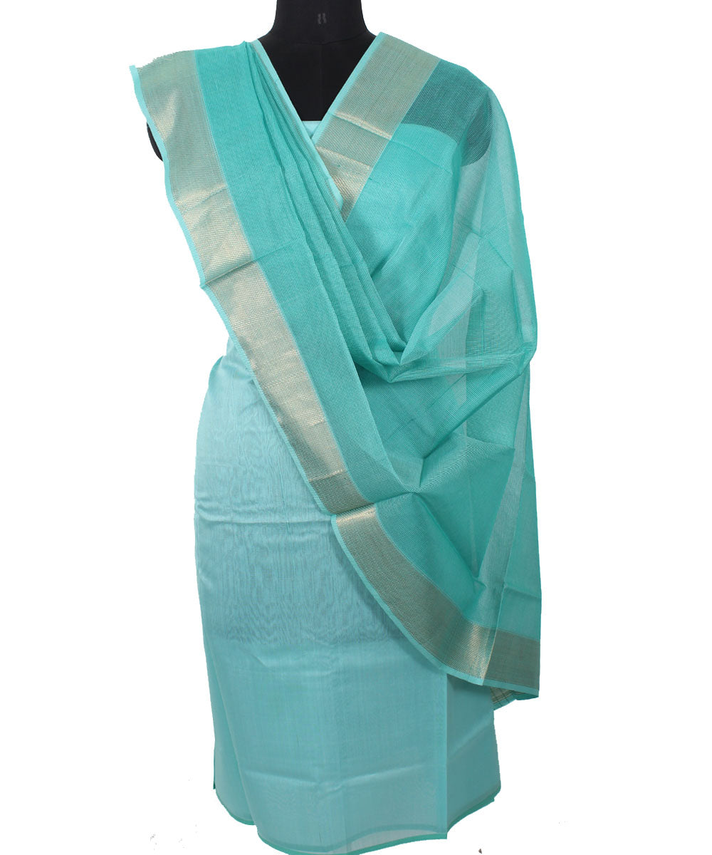 Maheshwari Arctic Sky Blue Dress Material