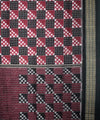 Sambalpuri Handloom Saree in Burgundy Black