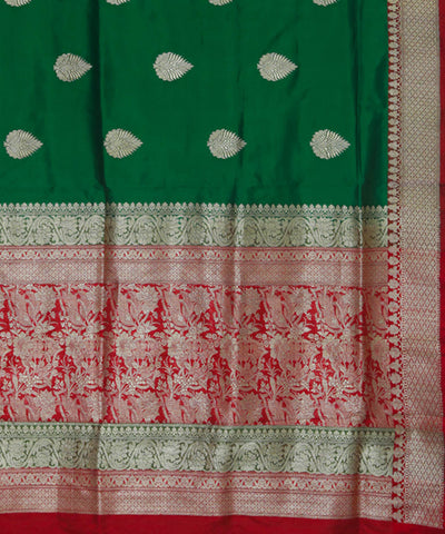 Dark Green Banarasi Silk Handloom Saree