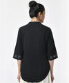 Black with Half Sleeve Cotton Top