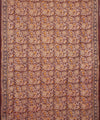 Handblock Printed Kalamkari Cotton Saree