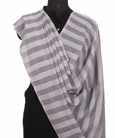 Handwoven Coin Grey Cotton Dupatta