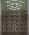 Olive Green Sambalpuri Cotton Handloom Saree
