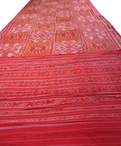 Traditional Red Cotton Saree