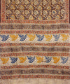Hand Print Kalamkari Cotton Saree In Brown