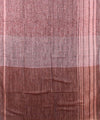Handwoven Grape And Peach Linen Saree