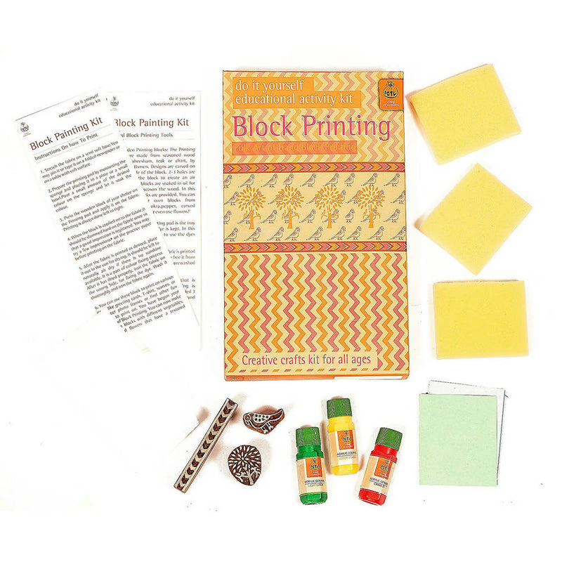 Handmade DIY Educational Wooden Block Printing Kit