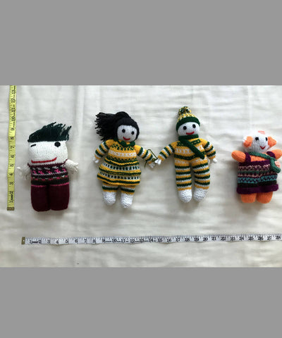 Woollen Hand Knitted Stuffed Soft Toys (Gudda Guddi) Set of 4