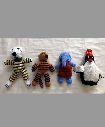 Animal Kingdom Hand Knitted Woollen Soft Toys ( Set of 4)