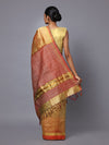 Bronze Gold Handloom Tussar Silk Saree