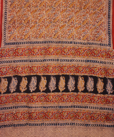 Natural Hand Printed Kalamkari Cotton Saree