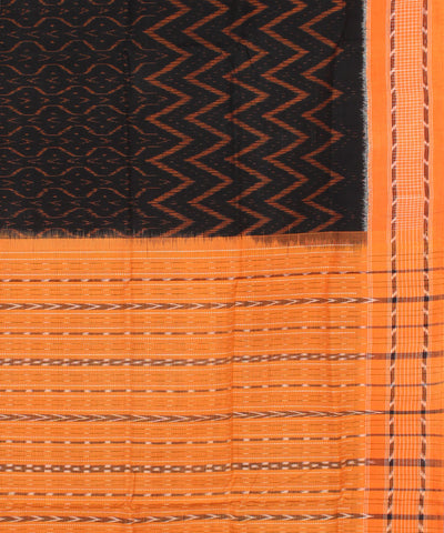 Black Light Orange Sambalpuri Saree