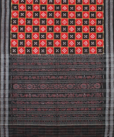 Red Black Pasapalli Handloom Cotton Saree