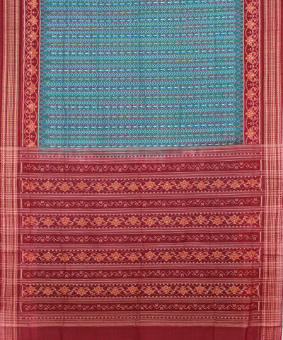 Green Maroon Sambalpuri Handloom Cotton Saree