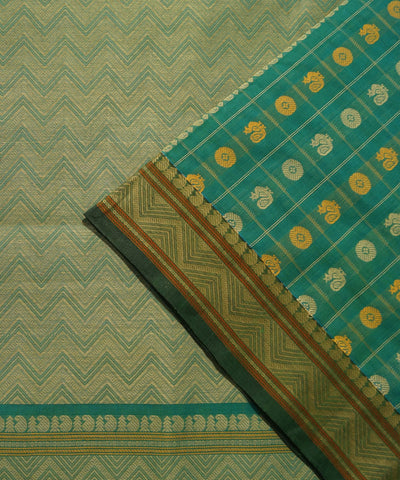 Thousand Butta Green Handloom Kanchi Saree