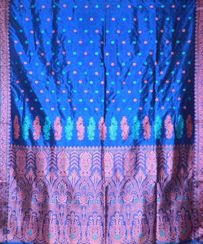 Persian Blue Handwoven Assam Silk Saree