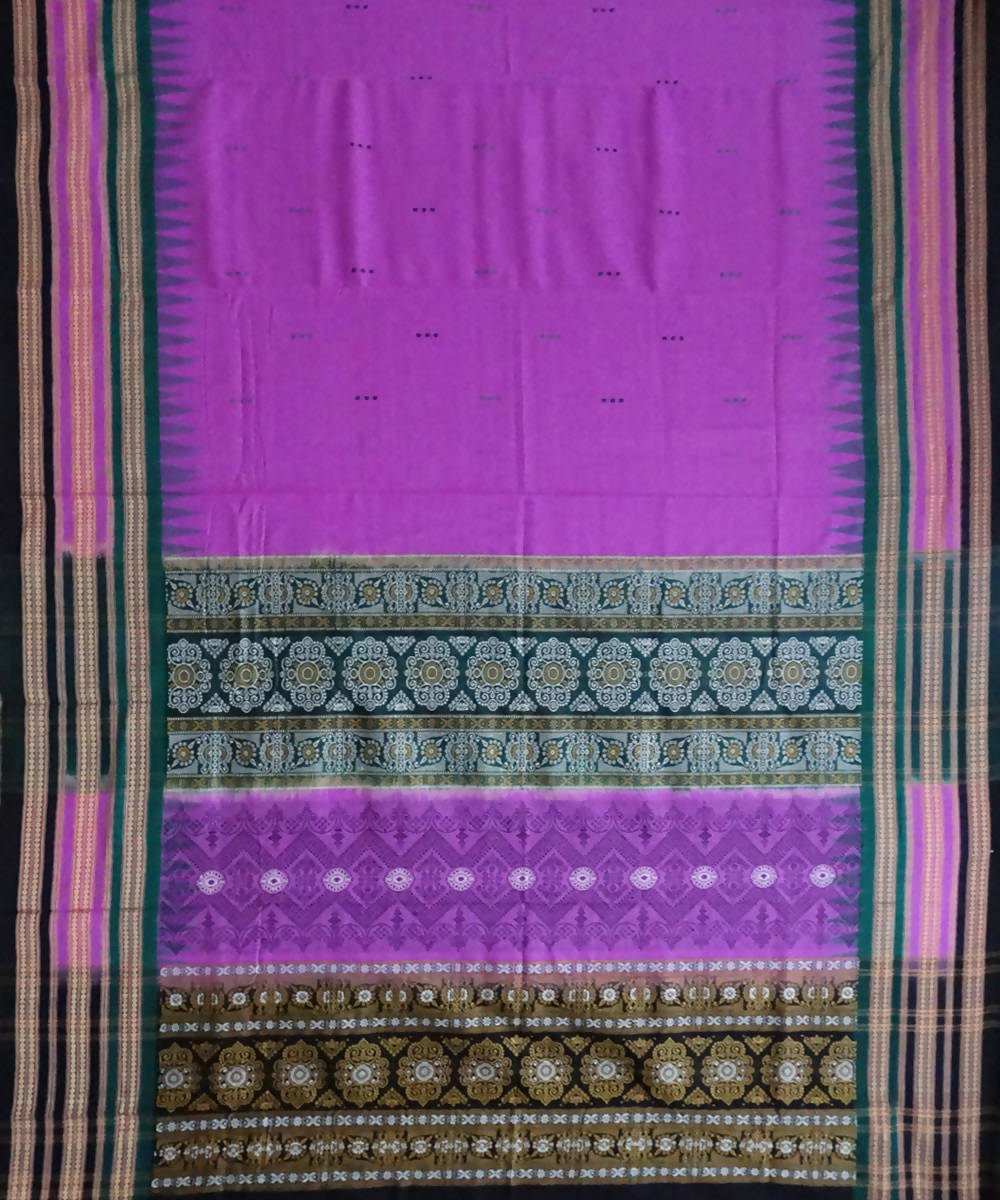 Byzantine Handloom Bomkai Cotton Saree