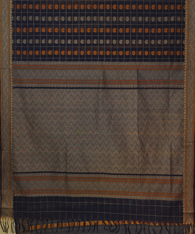 Thousand Butta Black Handwoven Kanchi Saree