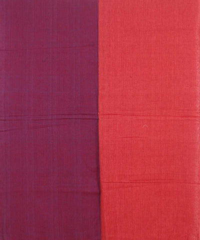 Handwoven Plum And Rust Cotton Dupatta