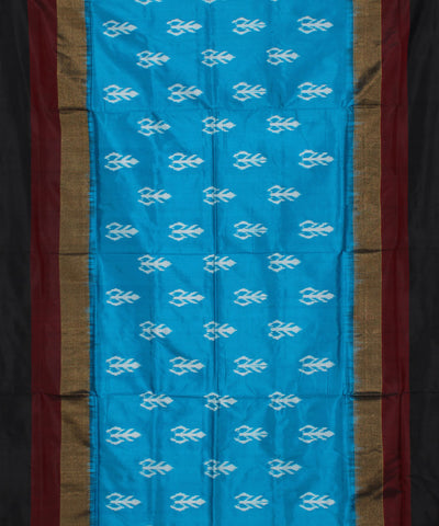 Sky Blue Handloom Pochampally Silk Saree