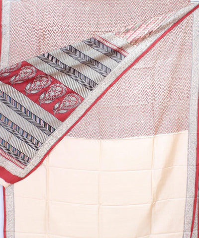 ECOTASAR Handwoven Printed Mulberry Saree