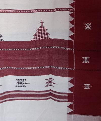 Natural Dyed Off White Handwoven Cotton Kotpad Dupatta