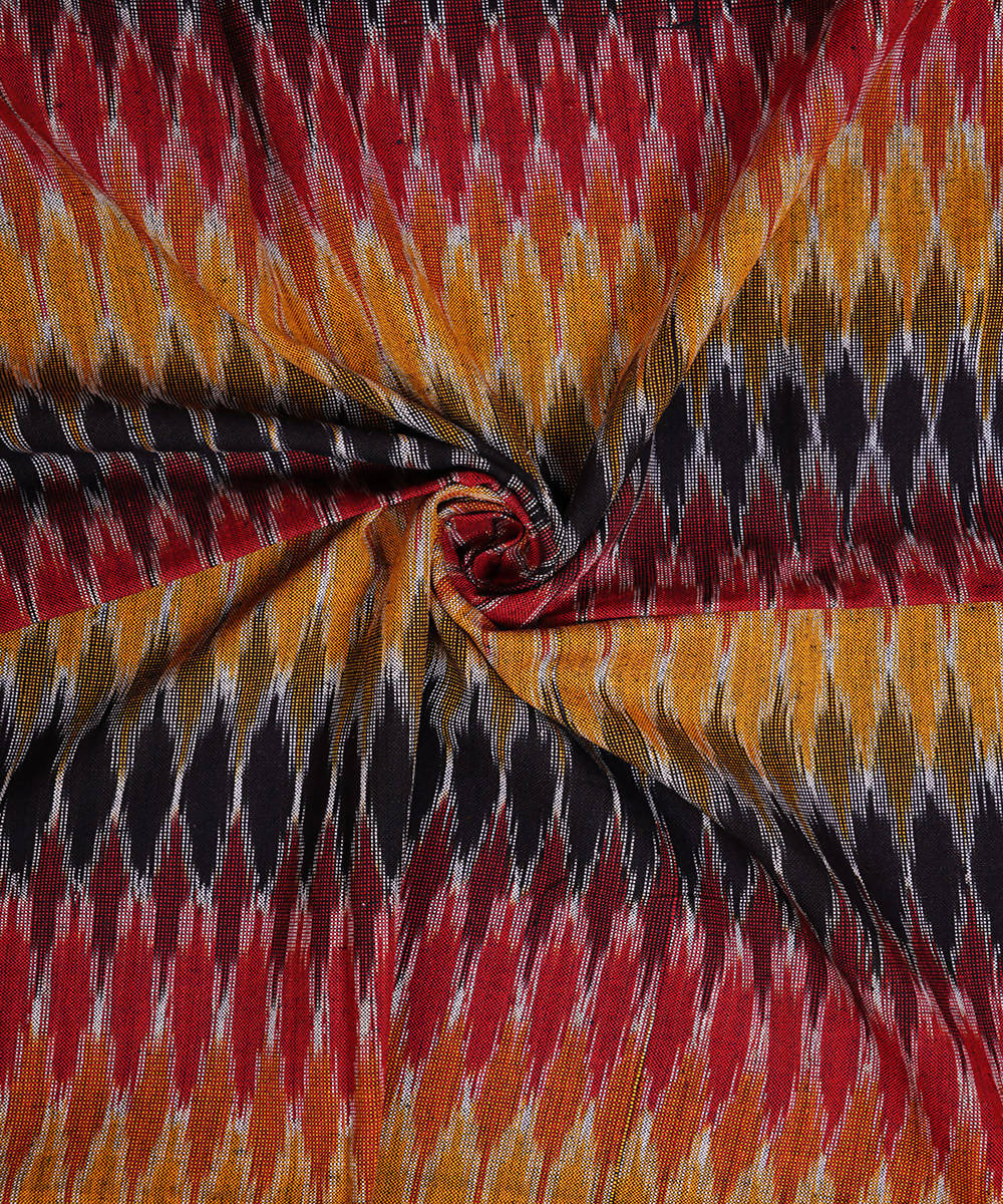 Multicolor Handloom Pochampally Ikkat Fabric