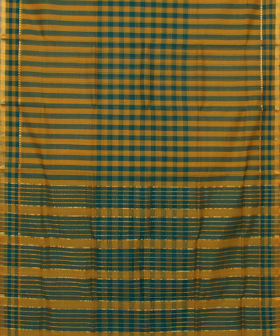 Green Yellow Mangalagiri Handloom Saree