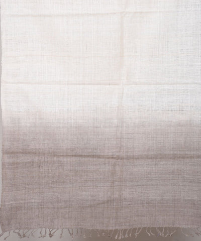 Off White and Grey Assam Eri Silk Stole