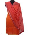 Maheshwari Orange Magenta Dress Material