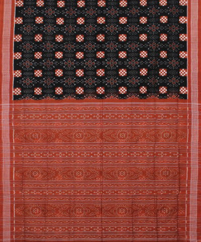 Black Coral Pasapalli Handloom Cotton Saree