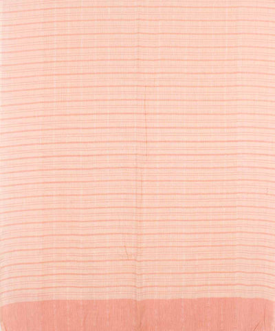 Handwoven Salmon Pink Cotton Dupatta