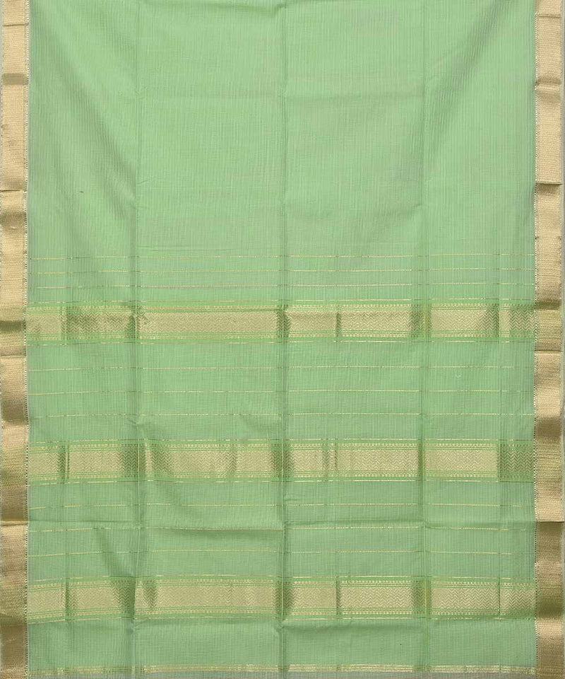 Maheshwari Handwoven Sico Lime Green Saree