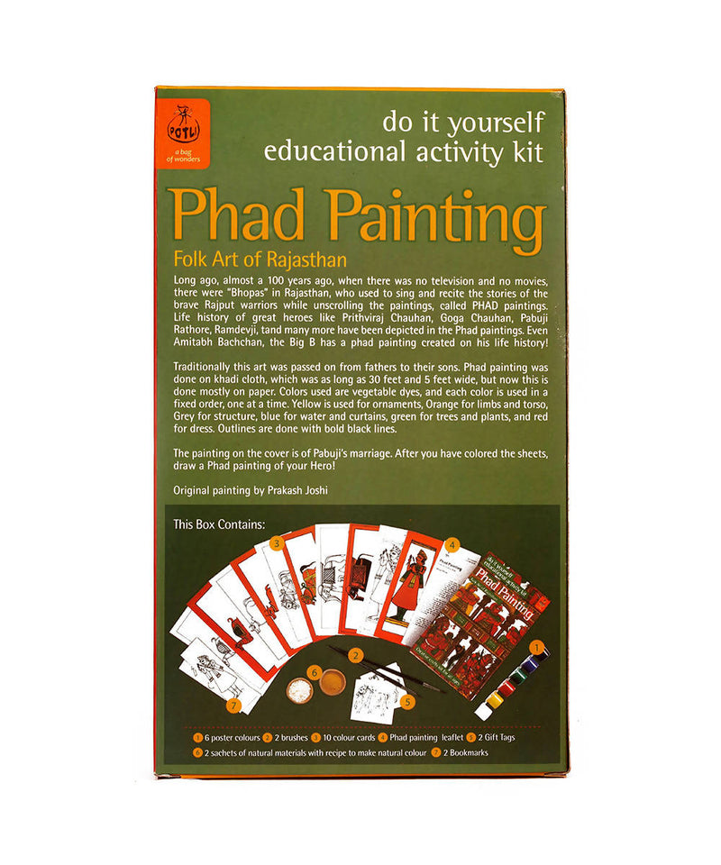 Handmade DIY Educational Colouring Kit Phad Painting of Rajasthan