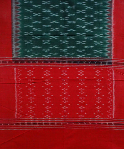 Green Red Cotton Handloom Sambalpuri Stole
